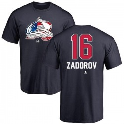 Youth Nikita Zadorov Colorado Avalanche Name and Number Banner Wave T-Shirt - Navy